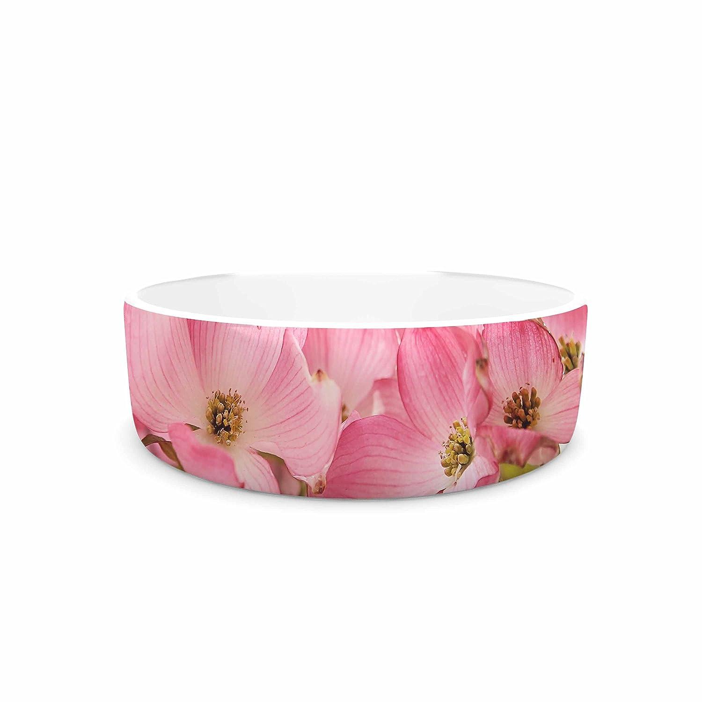 KESS InHouse Sylvia Cook Pink Dogwood  Floral Photography Pet Bowl, 7