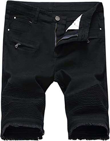 Pantalones Cortos De Verano Para Hombres Jeans Stretch Unico Skinny Con Agujeros Chern Denim Shorts Usados Look Slim Fit Destruido De Mezclilla Amazon Es Ropa Y Accesorios
