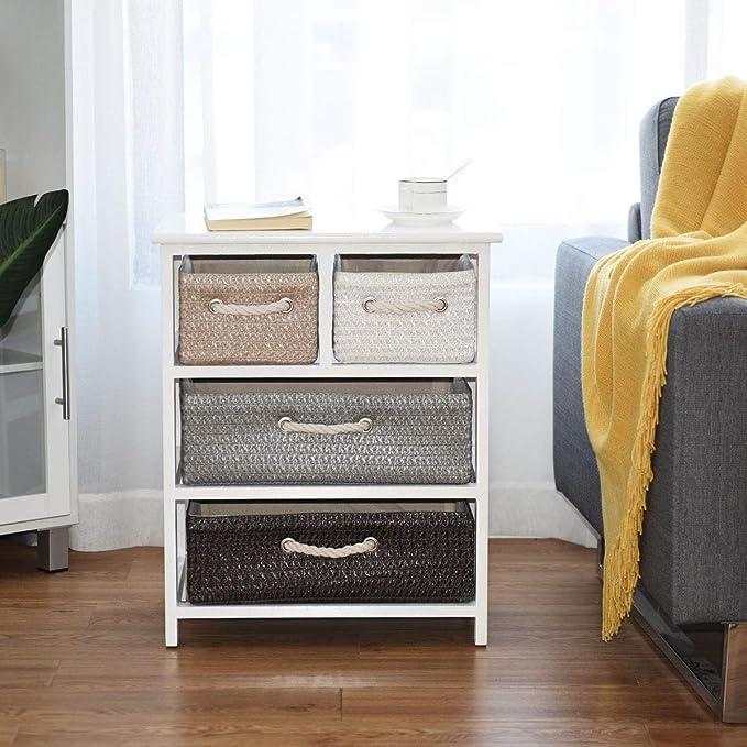 Amazon.com: Mesita de noche con cajón de almacenamiento ...