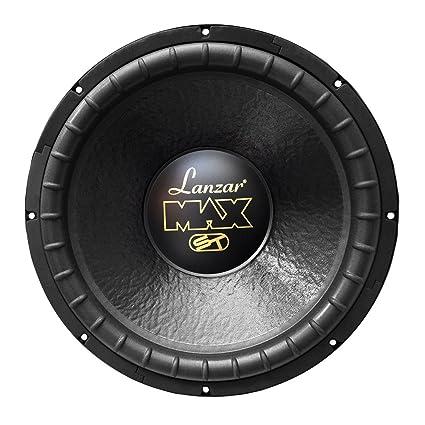 Lanzar 15in Car Subwoofer Speaker - Black Non-Pressed Paper Cone, Stamped on