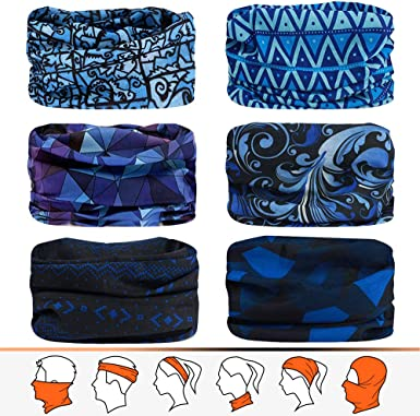MAKACTUA Neck Gaiter Face Cover Men Women 2 Pack,Outdoor Breathable Bandana UV Winter Face Shield Balaclava Scarf Headwear for Cycling Motocycle Ski Snowboard