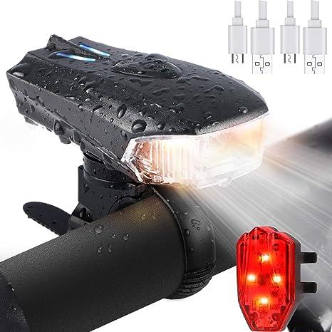 DOOK Luces Bicicleta Recargable LED, Luz para Bicicleta por USB ...