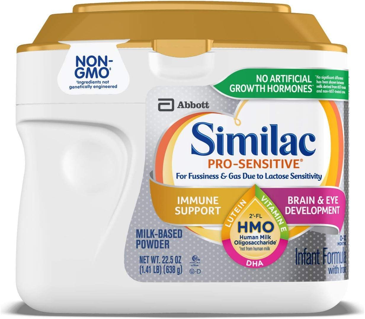 Similac Pro-Sensitive Infant Formula With 2'-Fl Human Milk Oligosaccharide (hmo) for Immune...