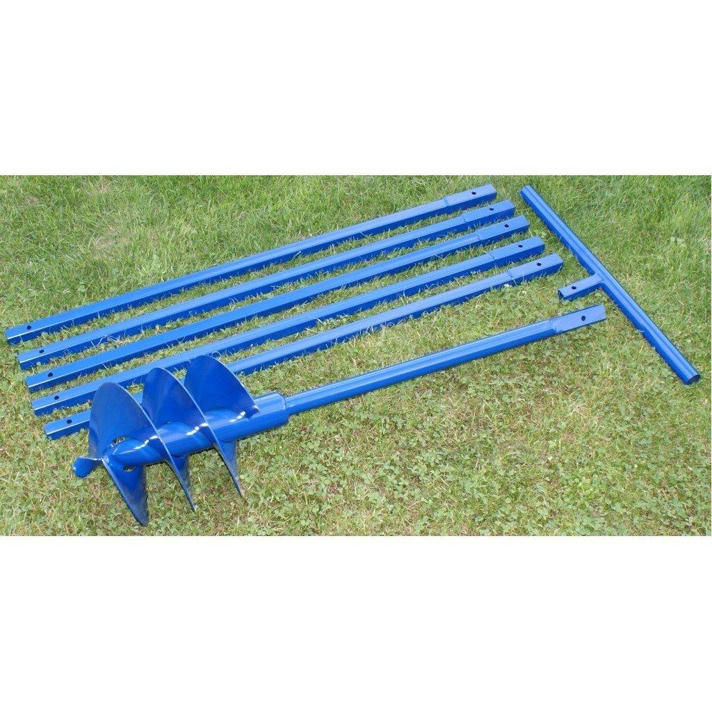 Brunnenbohrer / Erdbohrer zum Selberbohren von Brunnen oder tiefen Löchern, 250 mm / 25 cm x 6 Meter (Stücke 1 m lang), aus Stahl