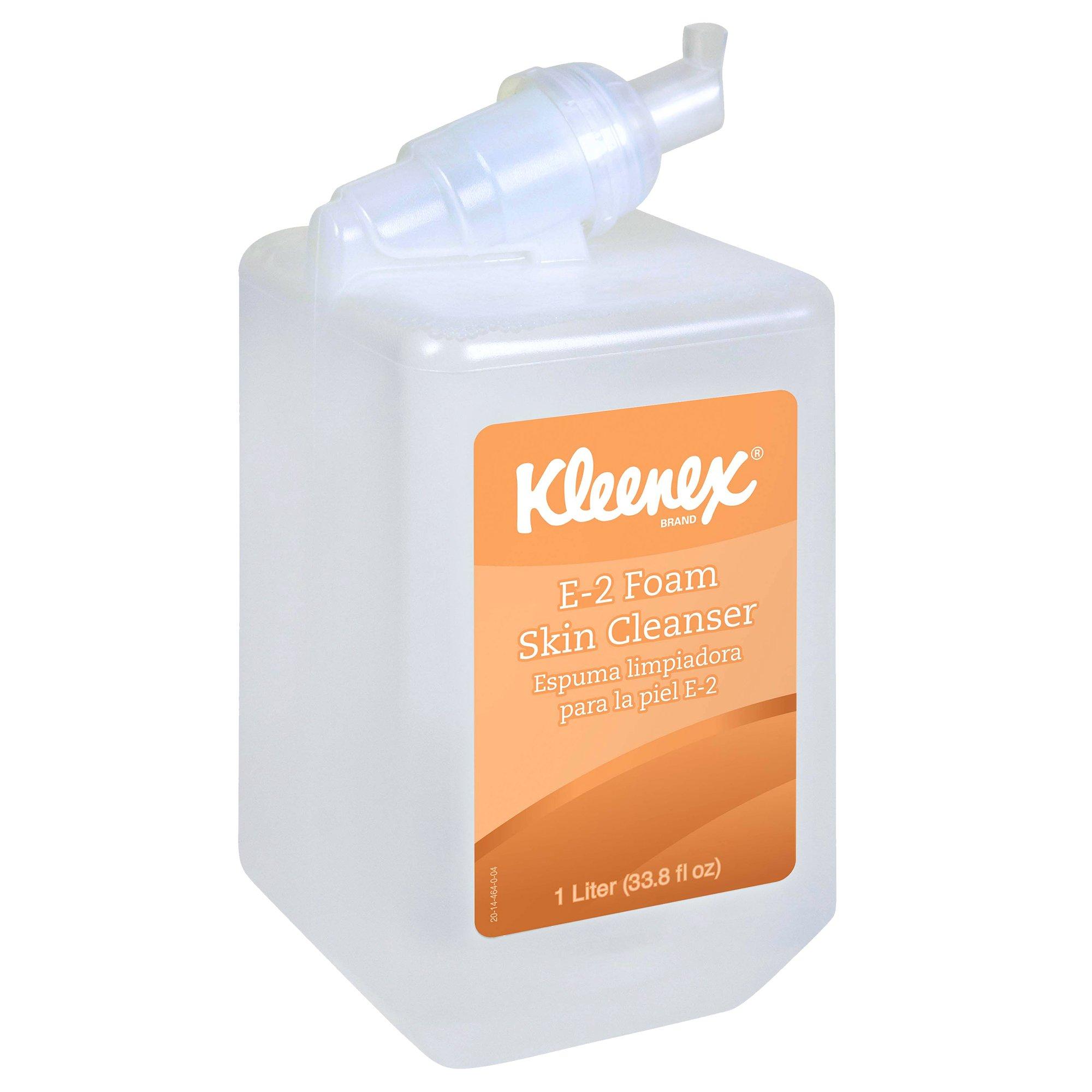 KLEENEX 91555 1000 mL Luxury Foam E-2 Skin Cleanser (6 per Case)