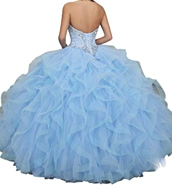 a9efadaf7d MFandy Sweetheart Girls Beads Ball Gowns 15 16 Women Quinceanera Dress at  Amazon Women s Clothing store