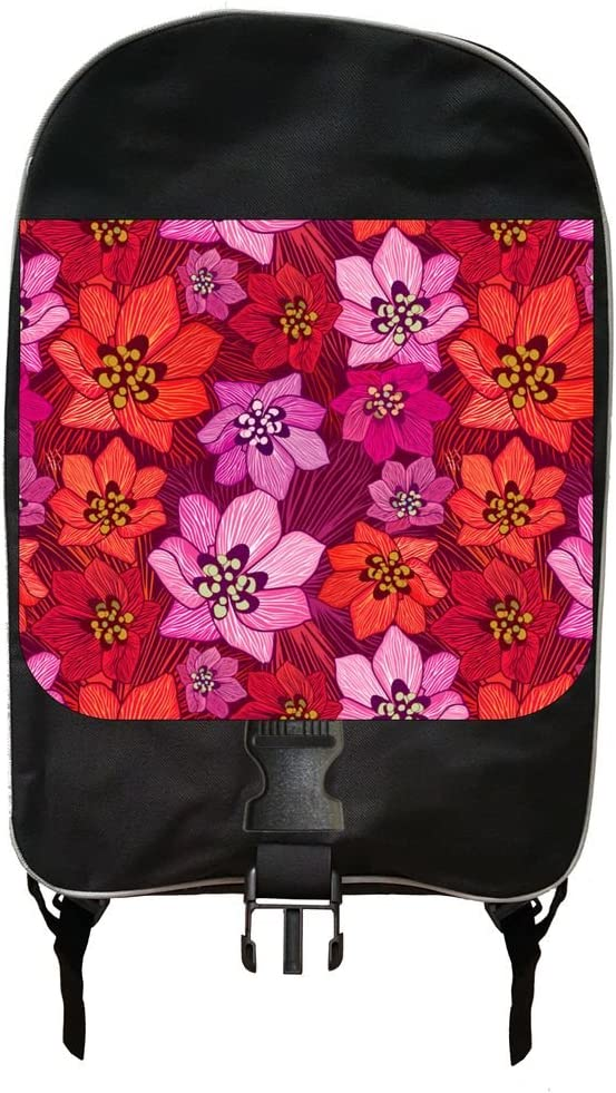 Flowers Print Backpack and Pencil Case Set