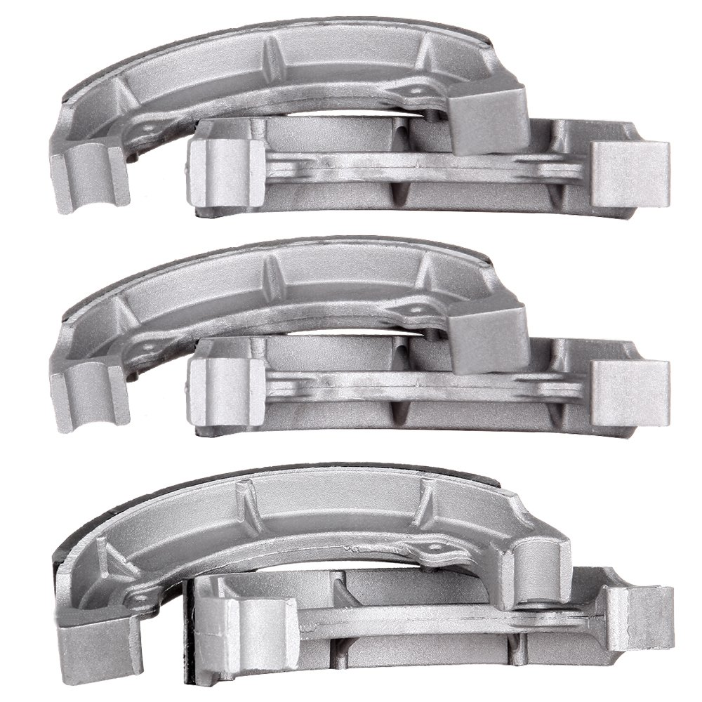 ECCPP 705 Front and Rear Brake Shoes Fit for 1986-1988 Kawasaki Bayou 185 KLF185A,1988-2002 Kawasaki Bayou 220 KLF220A,2003-2010 Kawasaki Bayou 250 KLF250A