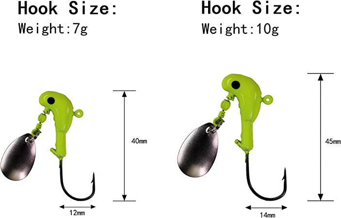 Details about  /lure Connect Jig Head Sinkers Pike Soft Worm lure Screw Fixed Lead Flexhead