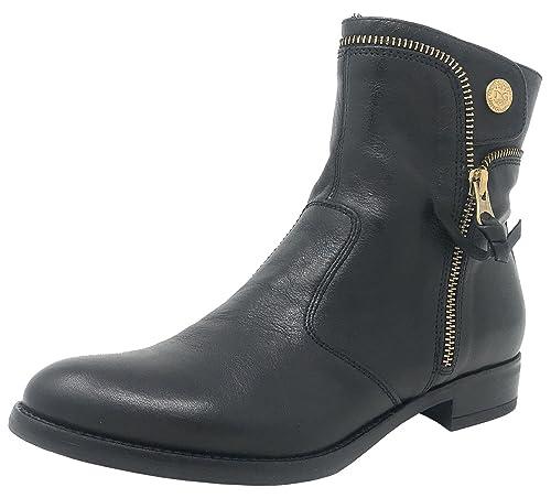 Nero Giardini A719435D Negro, Botines planos, Mujer: Amazon.es: Zapatos y complementos