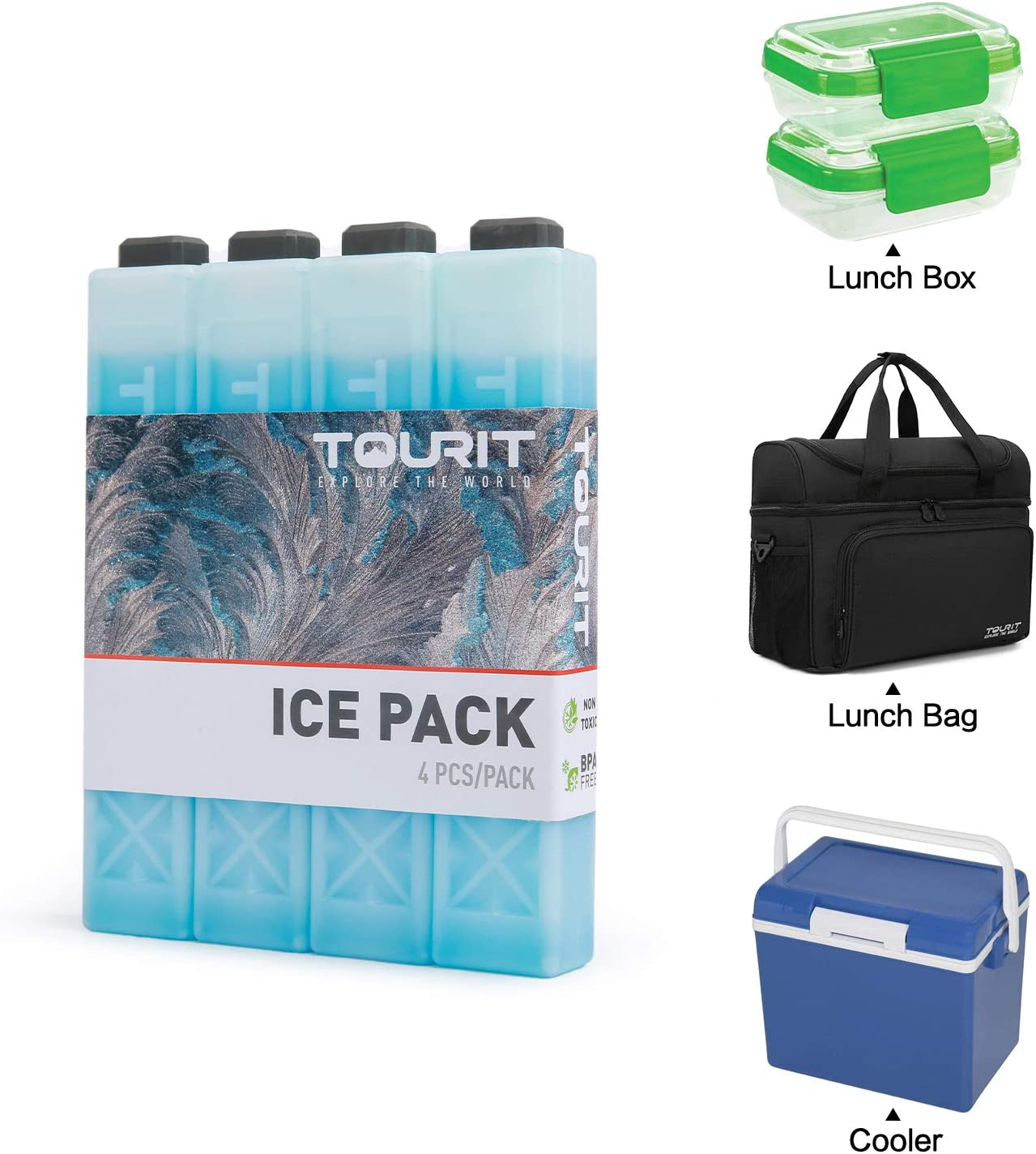 New 10x Plastic Reusable Cooler Bag Food Storage Ice Gel Cool Packs Cold Therapy