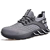 SUADEEX Mujer Zapatos de Seguridad para Hombre Calzado de Trabajo con Punta de Acero Zapatillas de Senderismo Comodas…