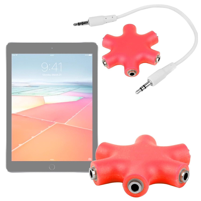 DURAGADGET Divisor De Auriculares Rojo para la Tablet BQ ...