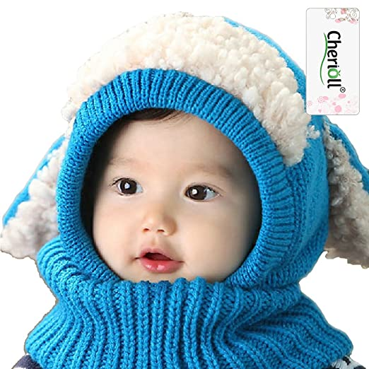 Mother & Kids Bright New Spring Autumn Cotton Baby Hat With Soft Ears Boy Girl Cap Scarf Set Winter Children Lovely Beanie Cap Kids Knitted Hats Sets Scarf, Hat & Glove Sets