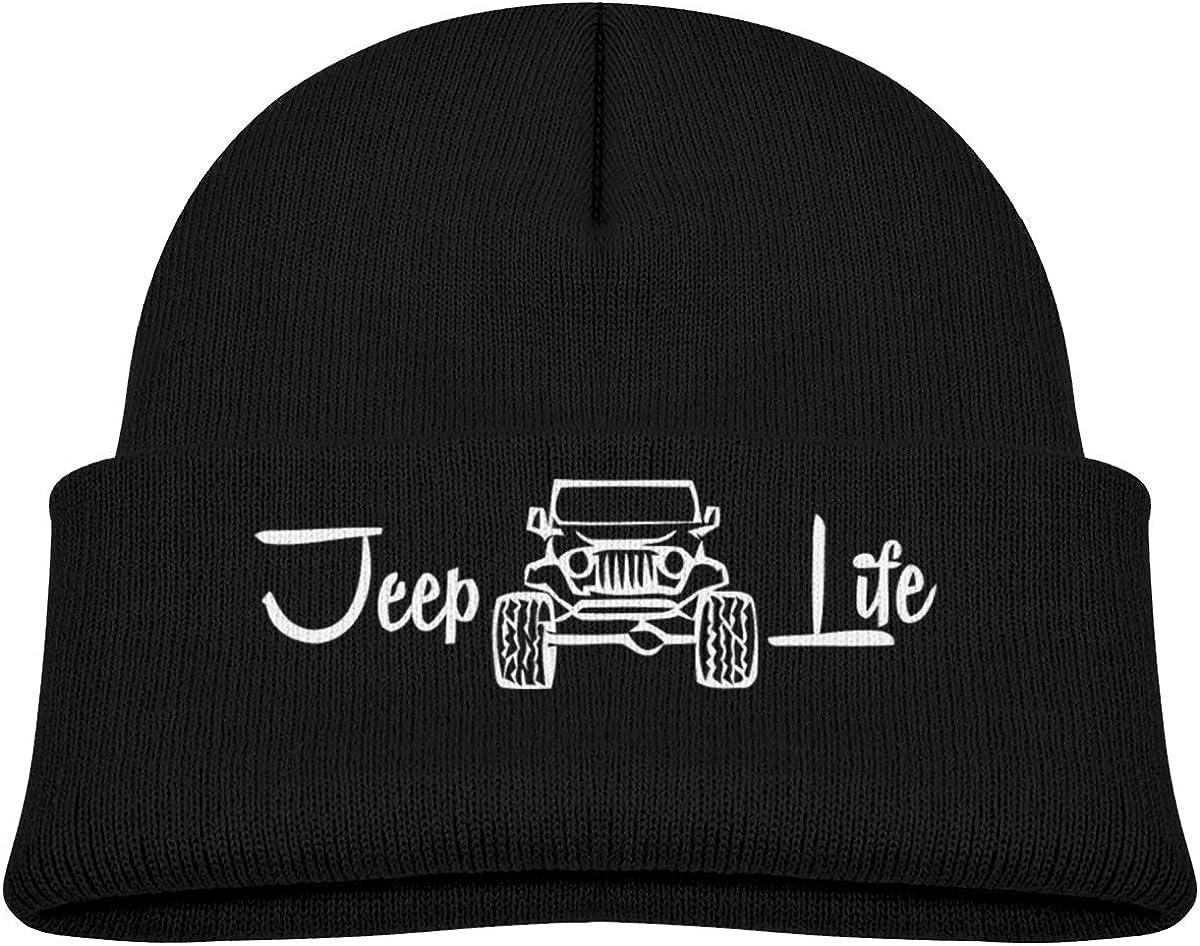 Jeep Life Beanie Caps Knit Hat Winter Warm Baby Boys