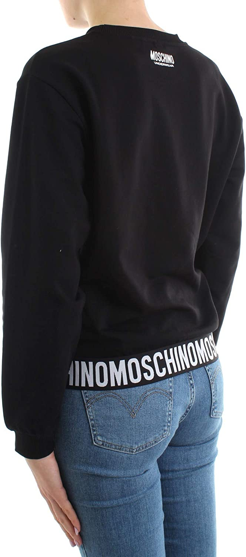 Moschino Felpa Underwear elastico logo colore nero donna E20MO29 Nero