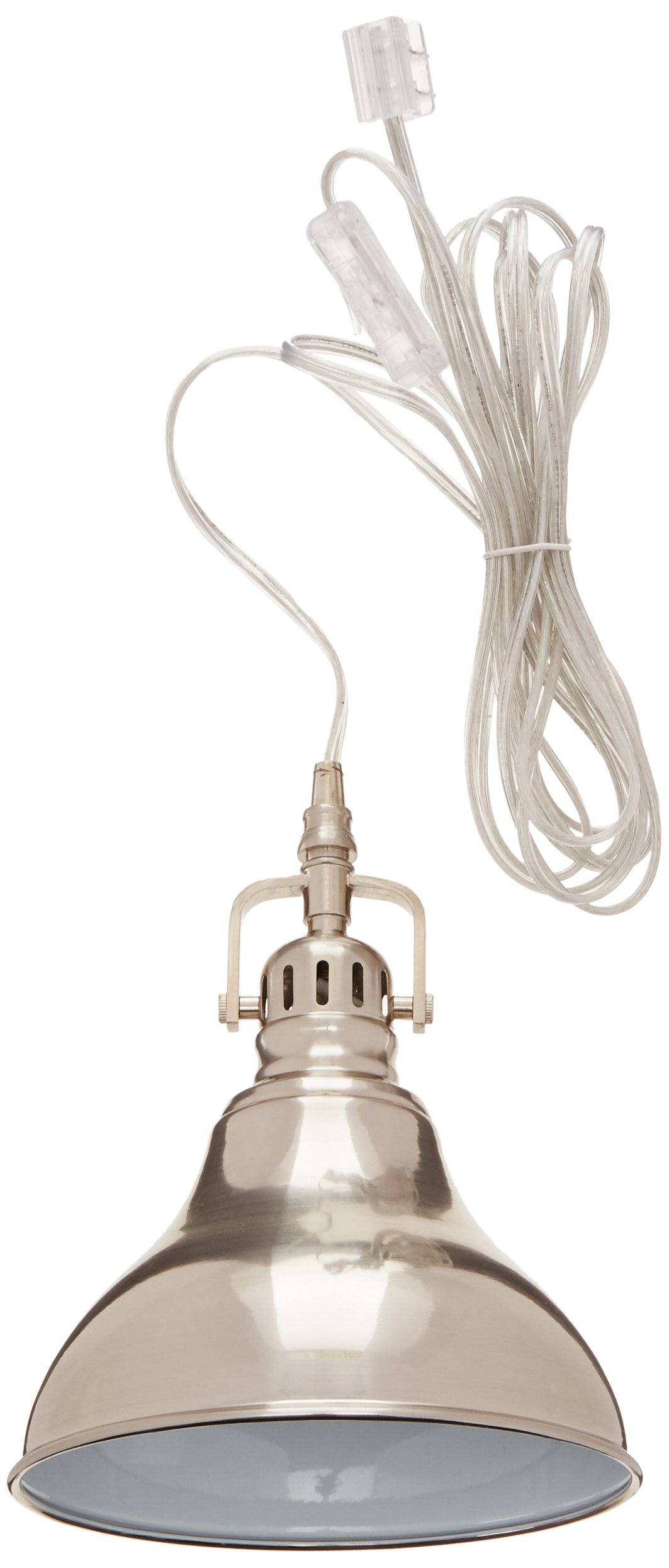 GLOBE ELECTRIC 65440 1-Light Steel Plug-in Pendant