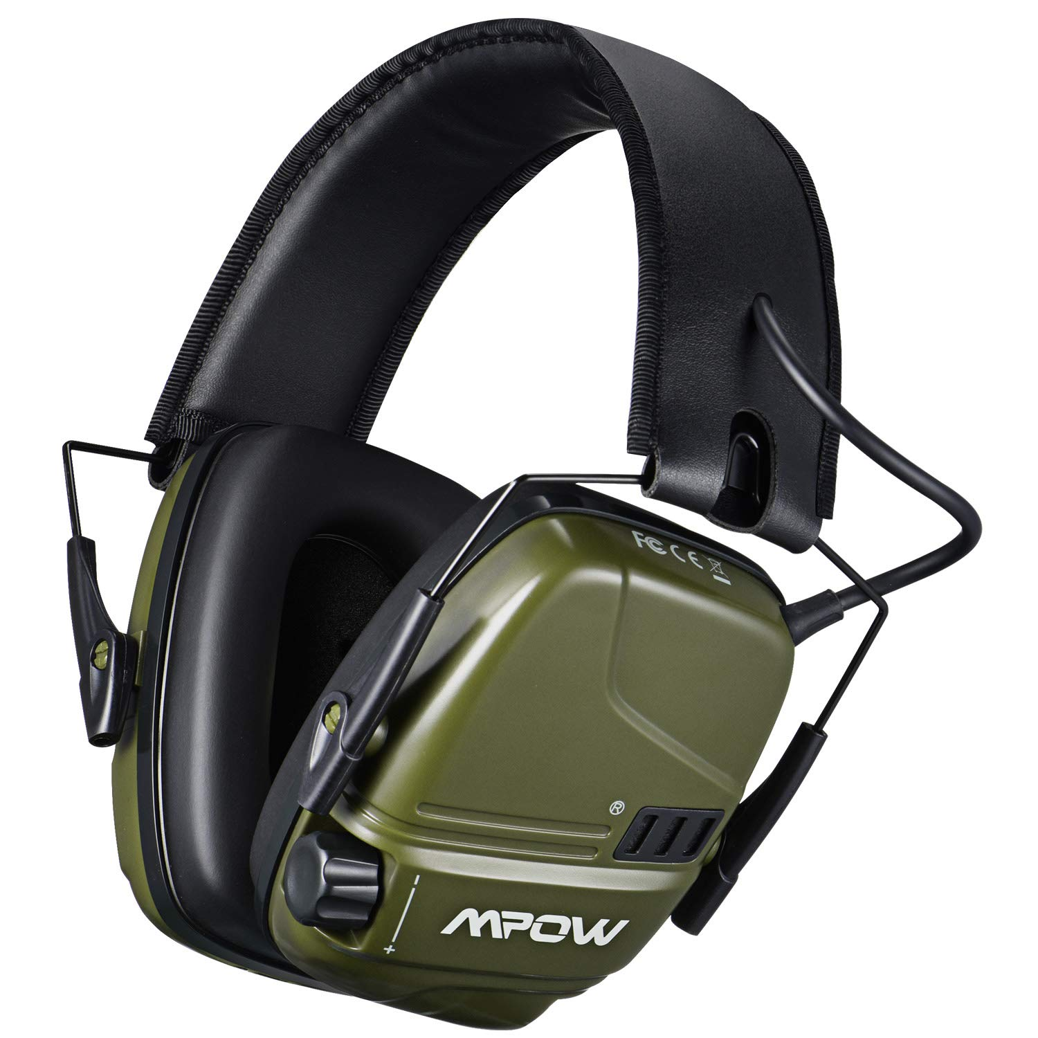Mpow Electronic Shooting Earmuffs, Rechargeable Ear muffs 30Hrs Playtime, NRR 22dB Ear Muffs Noise Reduction Sound Amplification, Hearing Protection for Shooting, Hunting, Mowing, Woodworking- Green by Mpow