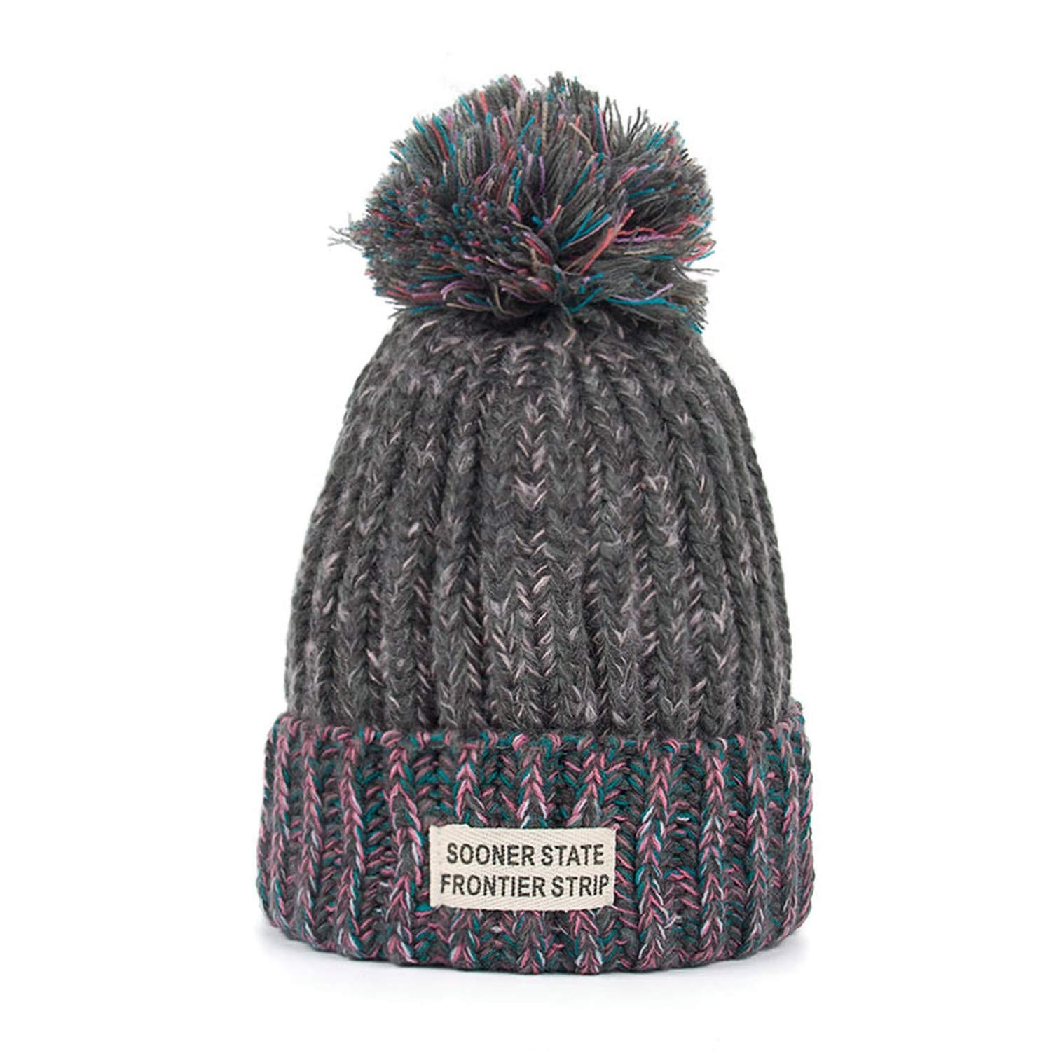 Woman Fashion Winter Knitting Hats with Pompom Beanies Cap