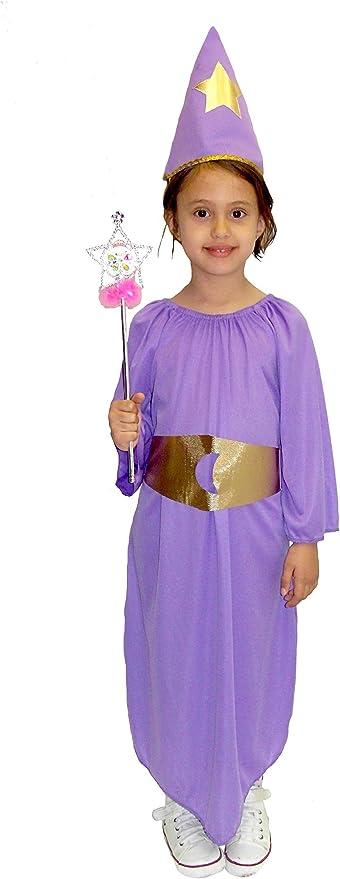 EL CARNAVAL Disfraz Hada Lila Infantil Talla de 6 a 8 años: Amazon ...