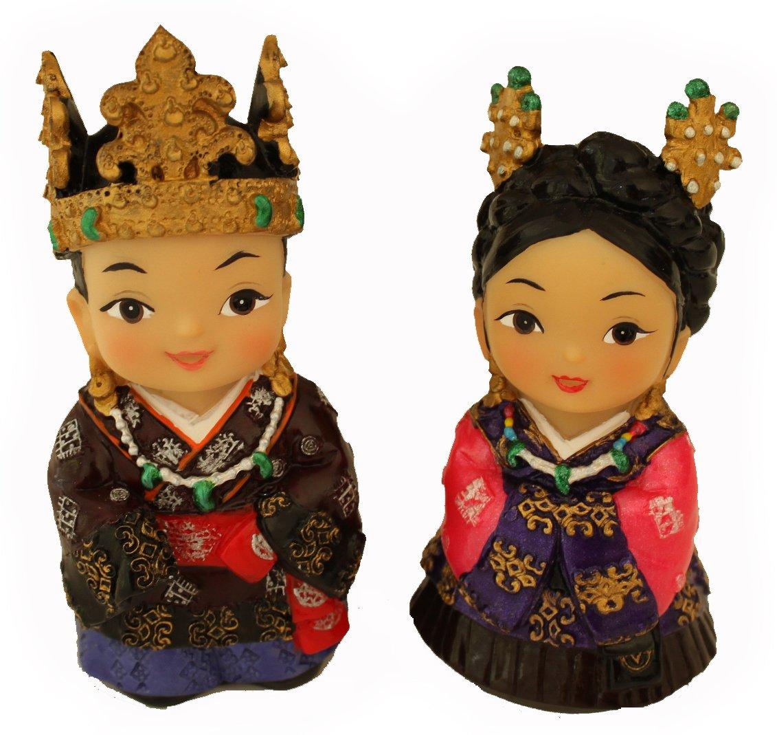 Korean King and Queen Figurines