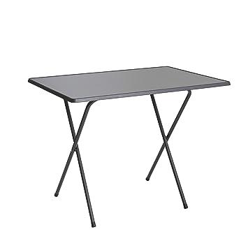 Ribelli Table d\'Extérieur Pliable, Table de Jardin en Acier/Bois ...