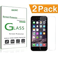 RKINC forIphone 7 8Screen Protector, [2 Pack] Crystal Clear Tempered Glass Screen Protector [9H Hardness][2.5D Edge][0.33mm Thickness][Scratch Resist] forApple Iphone 7 8