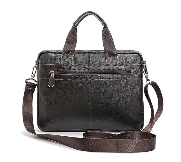 65c1dfd40f62 Sac à main en cuir de grande capacité, porte-documents, sac à bandoulière,  sac à bandoulière pour homme, sac à bandoulière en cuir marron  Amazon.fr   ...
