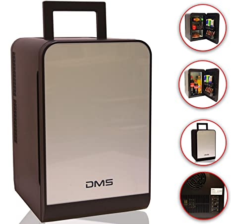 DMS® - Mini nevera portátil de 12/230 V, de acero inoxidable, 22 ...