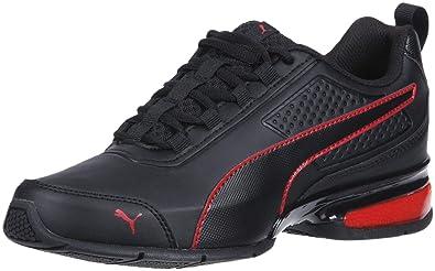 ac85198a598786 PUMA Men s Leader VT SL Sneaker Black-Ribbon red
