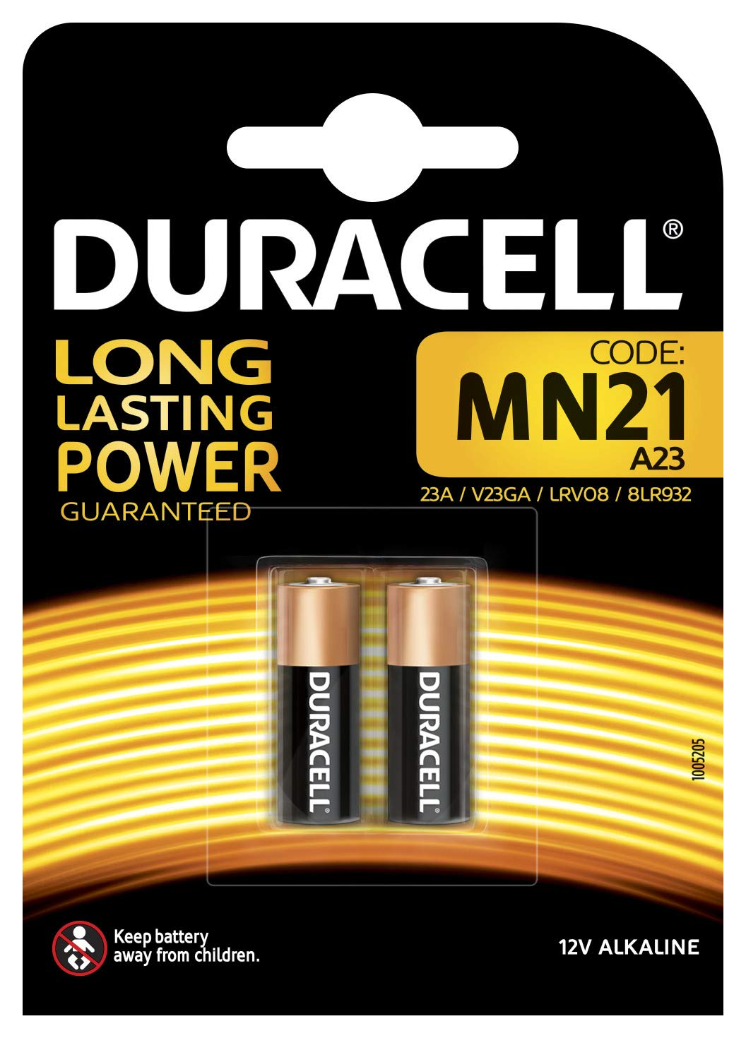 Duracell Security - Kit de 2 pilas (12 V, 1.5 W) product image