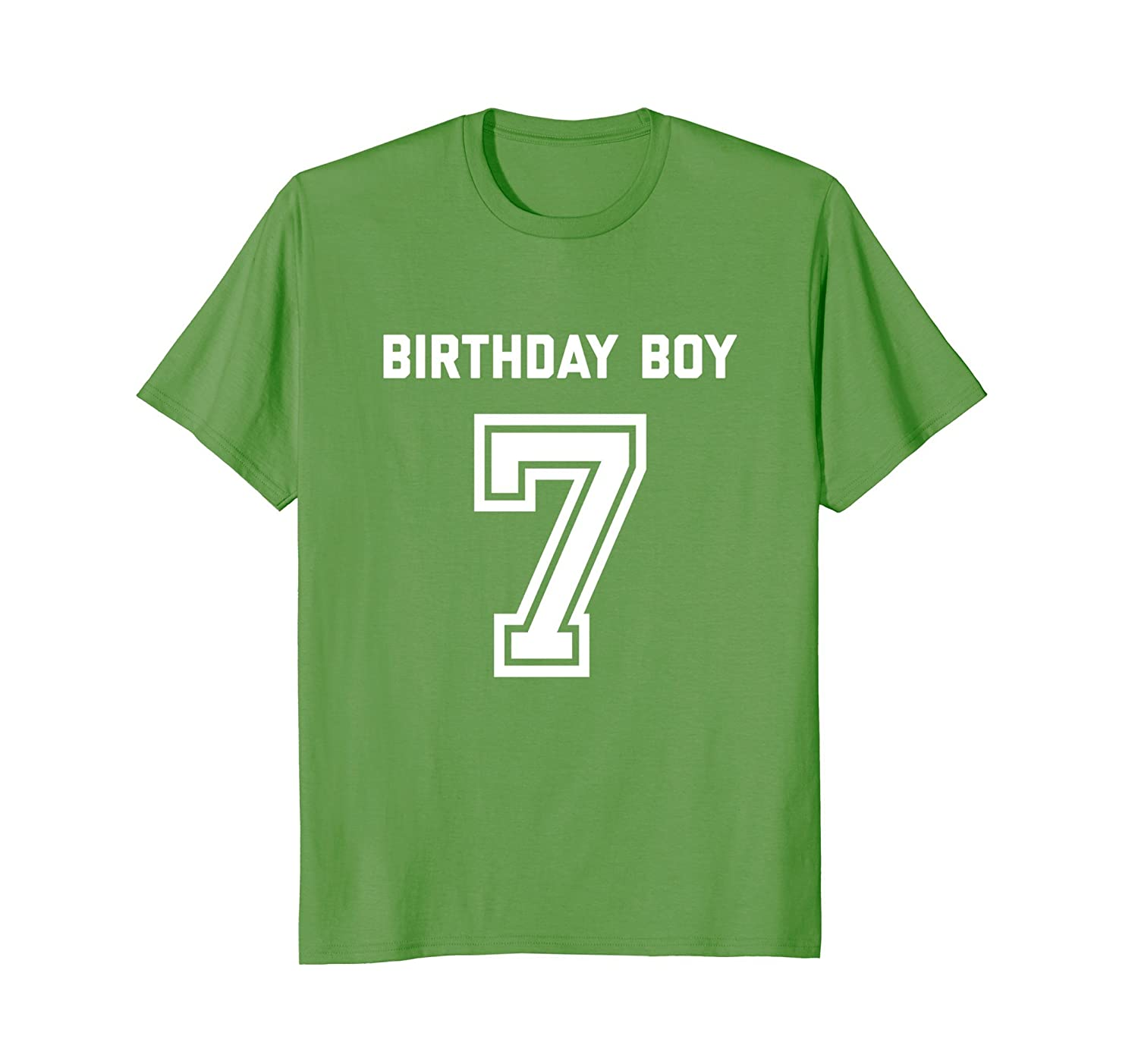 7th Birthday Shirt Gift Age 7 Year Old Boy Tshirt Boys Tee Prm