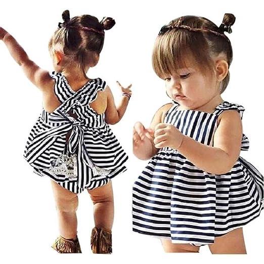 07e4d5e0f Amazon.com  Lurryly 2018 Baby Girls Clothes Summer Sunsuit Infant ...