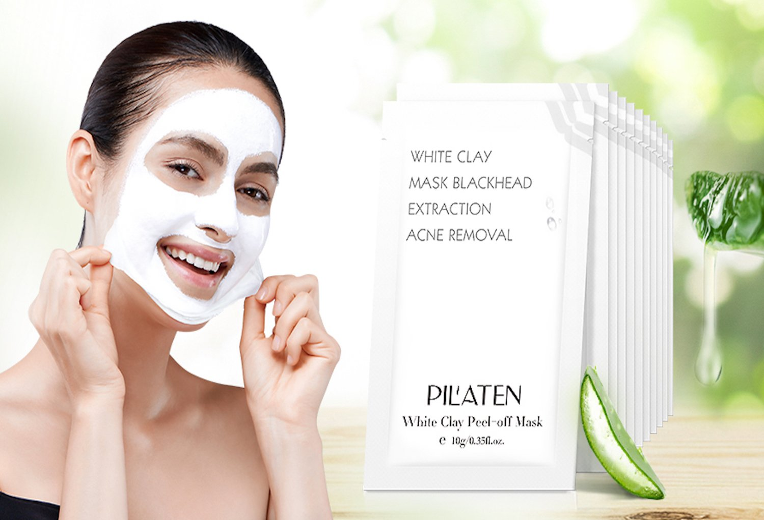 Mascarilla Peel-Off de Arcilla Blanca 10 gr - White Clay Mask - Pilaten 2872