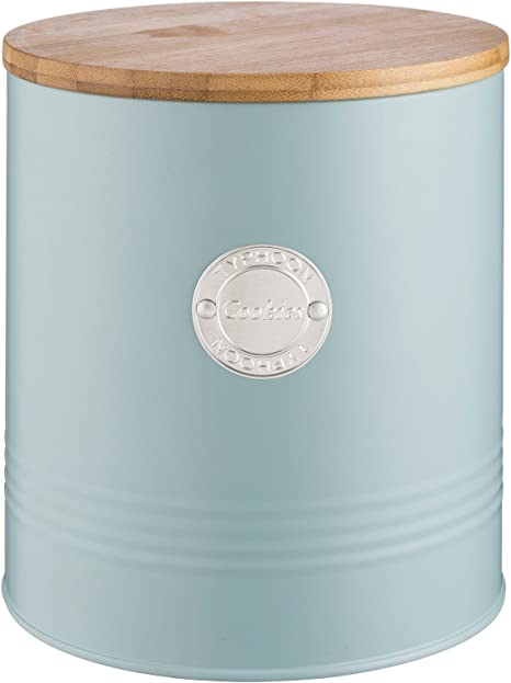 Typhoon Living Airtight Biscuit Cookie Storage Canister with Lid Blue 3.4 Litre