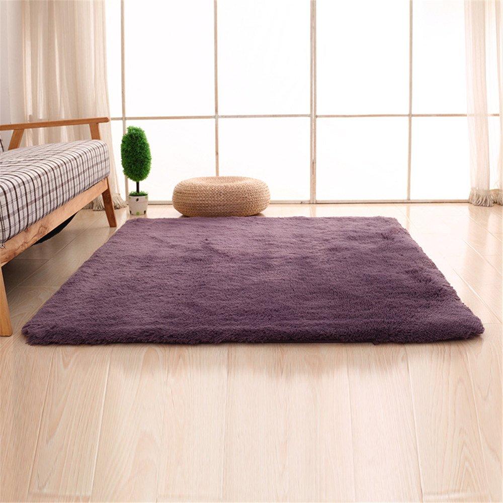 CAMAL Alfombras, Lavable Material de Lana de Seda Artificial Decorativo Sala de Estar y Dormitorio