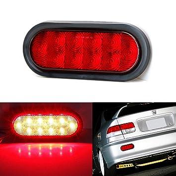 MASO 2X LED Rear Stop Lights Black Lens Bumper Reflector Fog Lamp Tail Light Red for 05-12 VW Transporter T5