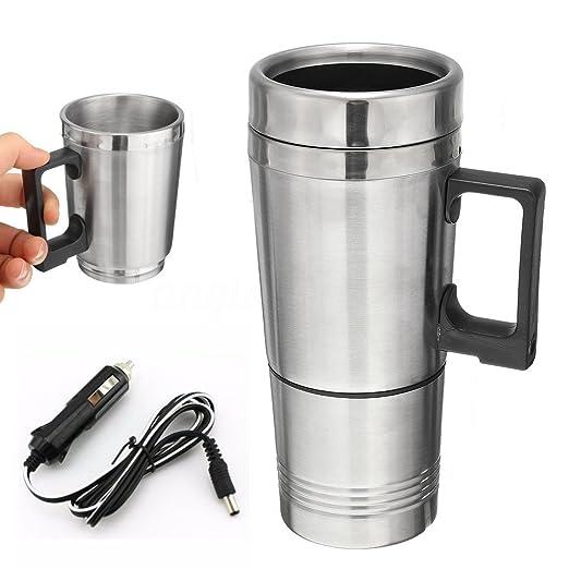 12 V 300 ml portátil en coche cafetera eléctrica termo, tetera ...