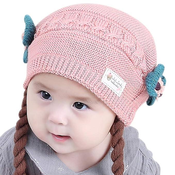 19bd4a92e48 Amazon.com  IMLECK Toddler Infant Girls Cute Soft Winter Knit Warm ...