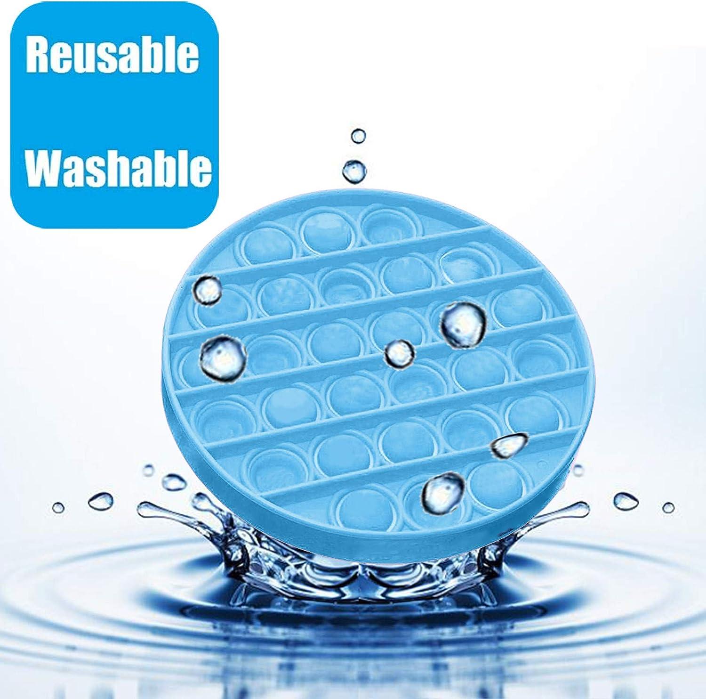 Push Bubble Fidget Juguete Sensorial para Aliviar El Estr/és Juguete para Autismo Necesidades Especiales para Aliviar El Estr/és para Ni/ños Adolescentes Adultos Mujeres Pop It Fidget Toy