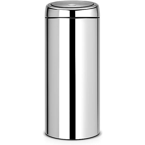 Brabantia 30 Litre Soft Touch Bin - Brilliant Steel