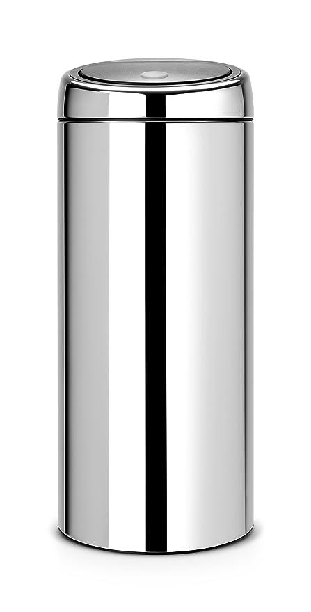 Brabantia Touch Bin 30 L Flat Top.Brabantia Touch Bin 30 L Brilliant Steel