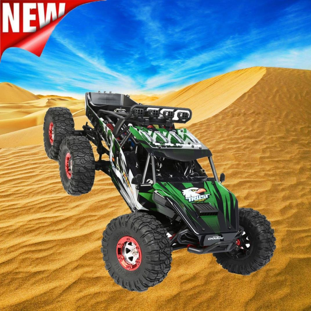 Excellent 1:12 High Speed Brushless Motor High Capacity Battery RC Desert Off-Road Racing Truck Car Gifts Dreamyth (Green)