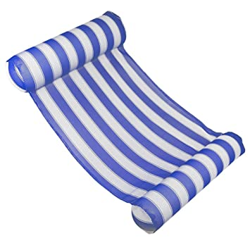 Prom-note Hamaca flotante Colchoneta Piscina Hinchable Inflables para Playa Flotadores Flotador Piscina Playa Tumbona Piscina para Adultos y Niños ...