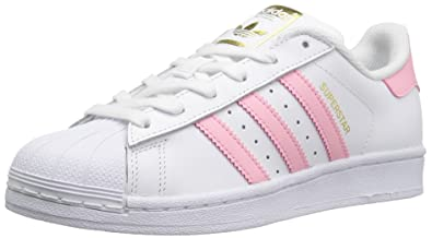 d9bf0049ba45 adidas Originals Boys  Superstar Running Shoe White Light Pink Gold 7  Medium US