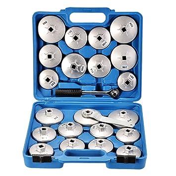 Ölfilterkappen Satz 11-tlg Ölfilterschlüssel Werkzeug ÖlFilter Kappe Werkzeugset