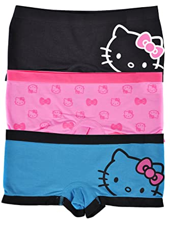 2b49855234a7 Amazon.com: Hello Kitty Women's Slim Seamless Boy Short Underwear 3 ...