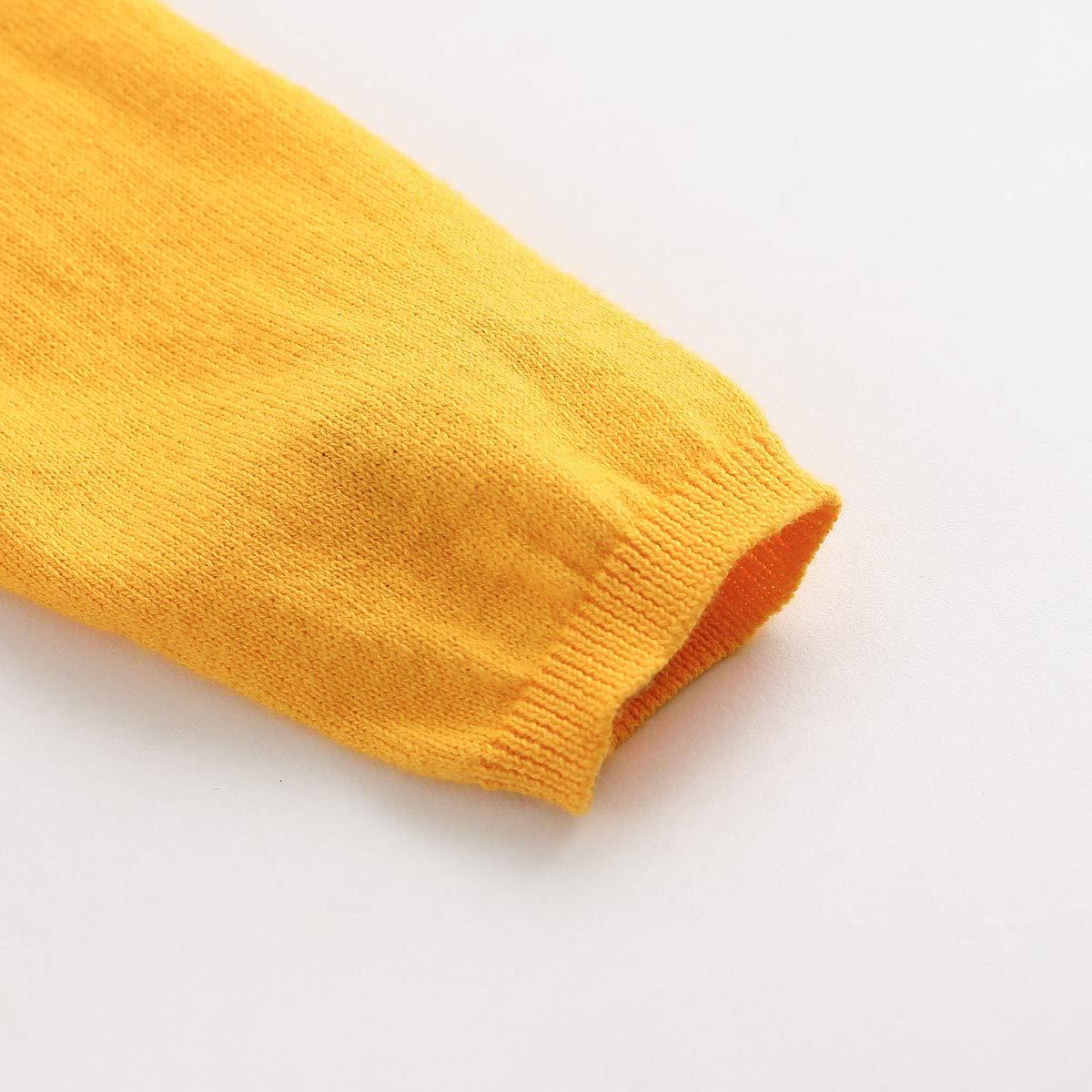 marc janie Girls Cotton Solid Knitting Cardigan