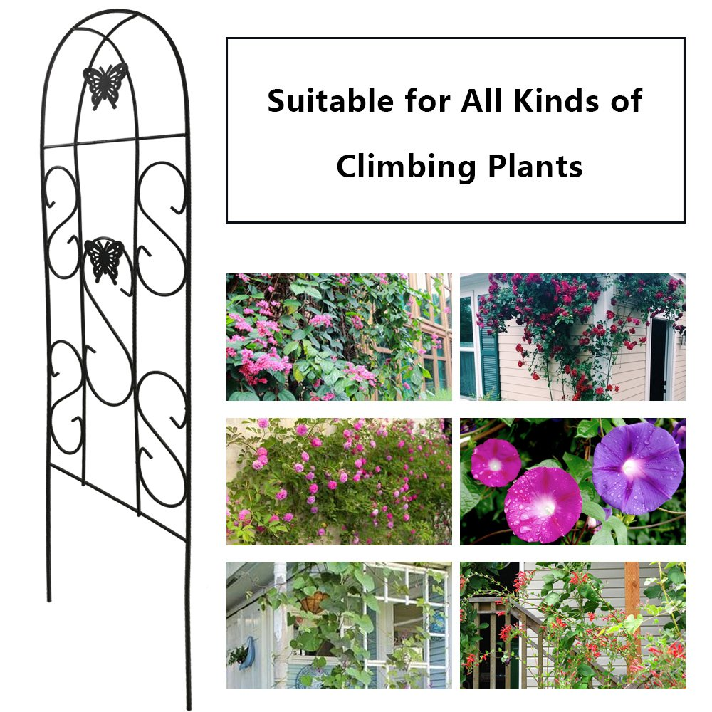 2 Pack Garden Trellis For Climbing Plant Butterfly Potted