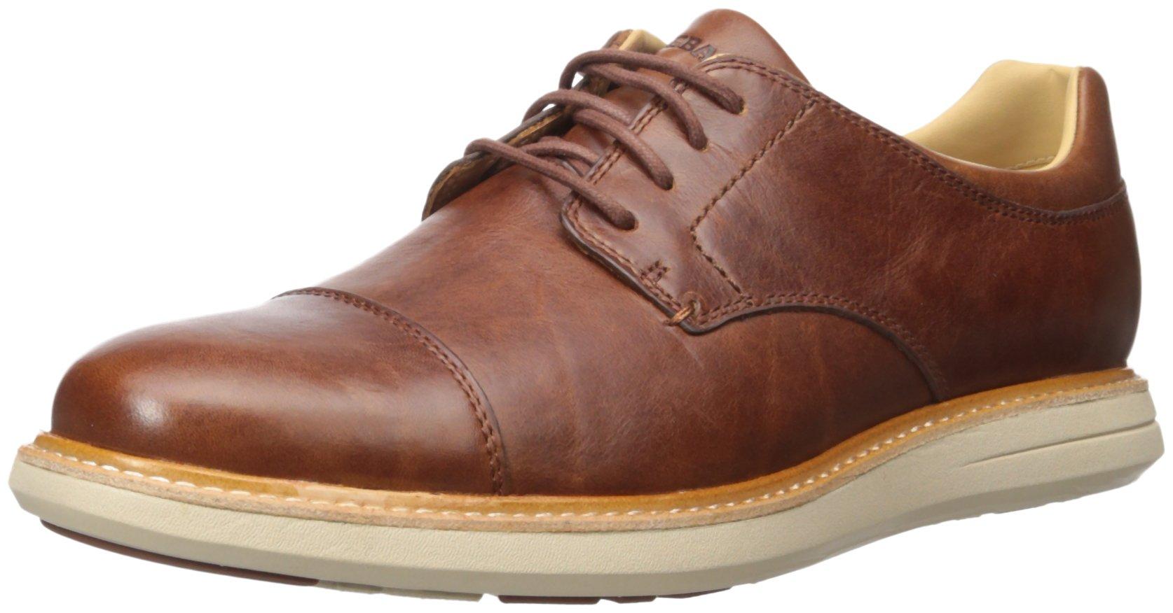 Sebago Men's Smyth Cap Toe Oxford, Brown Leather, 8 M US